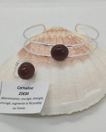 parure bijou pierre lithothérapie cornaline