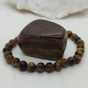 bracelet bijou perles pierre lithothérapie oeil de tigre