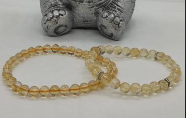 bracelet pierre lithothérapie citrine naturelle réussite prospérité