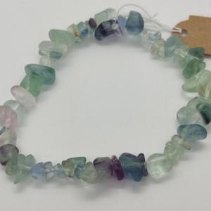 bracelet pierre lithothérapie chips fluorine