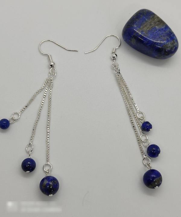 boucles lithothérapie pierre naturelle lapis lazuli