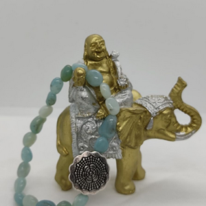 bracelet pierre roulée amazonite