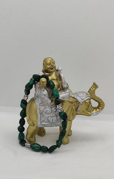 bracelet pierre naturelle pierre roulée malachite